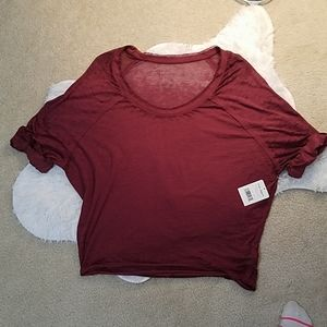 NWT. Free People Mulberry oversized shirt